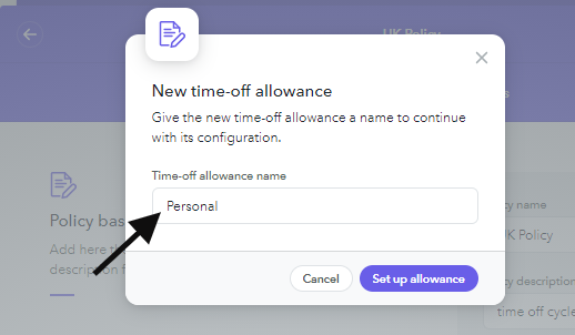 Allowance name