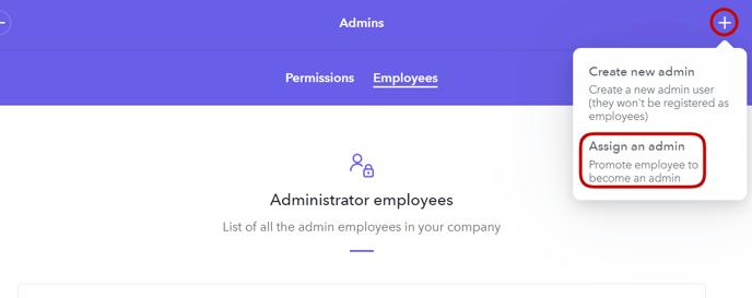 Assign an Admin