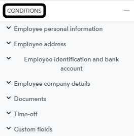 Conditions - WF