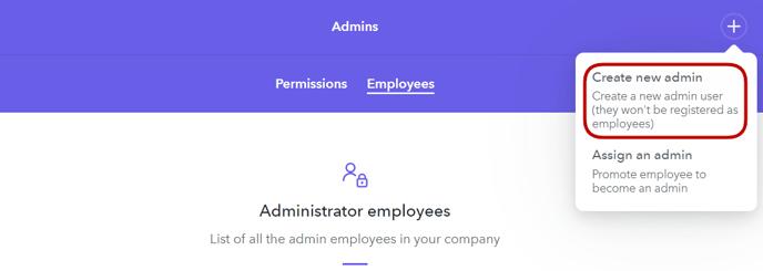 Create new admin