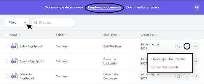 Documentos de empleados