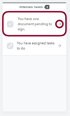 E-Signature - Pending Tasks
