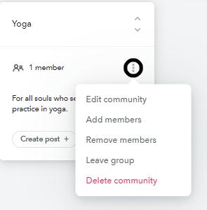 Edit Communities