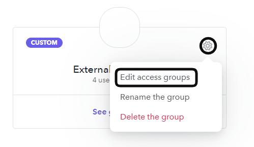 Edit access group
