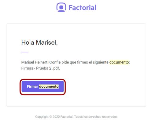 Email firmar documento