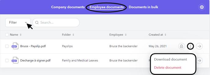 Employee Documents