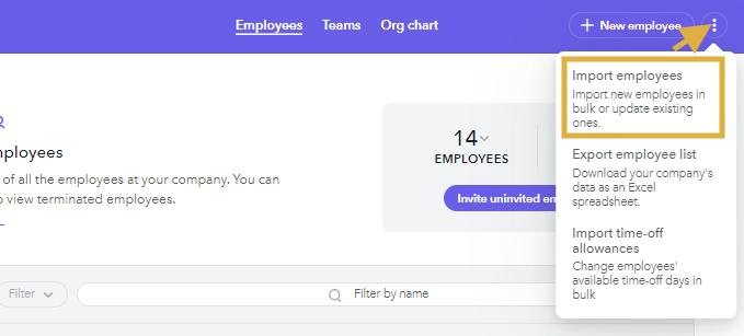 Import Employee