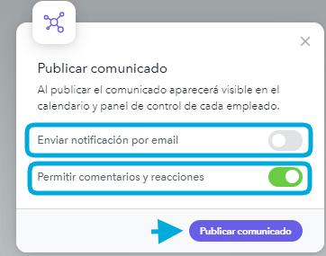 Publicar comunicado