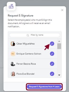Select e sign