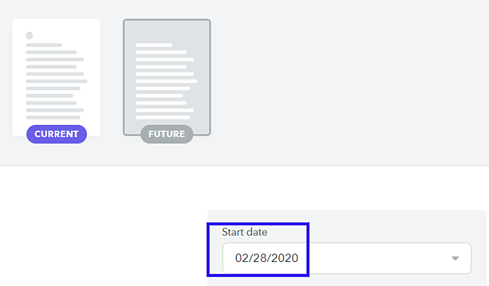 Start date contract
