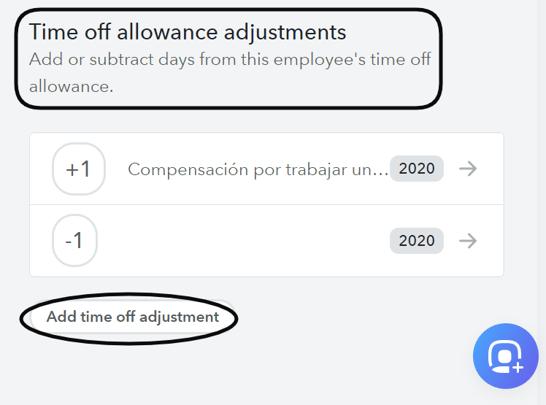 Time of allowances adj